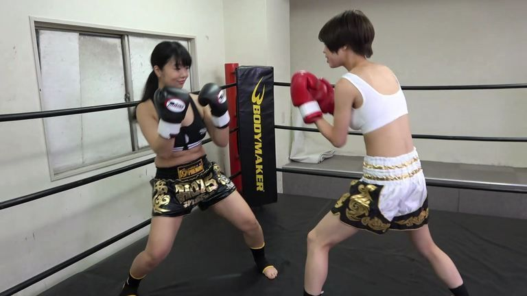 悶絶キックボクシング002 日向菜々子vs満島みう Agony Kickboxing 002 Nanako Hinata vs Miu Mitsushima
