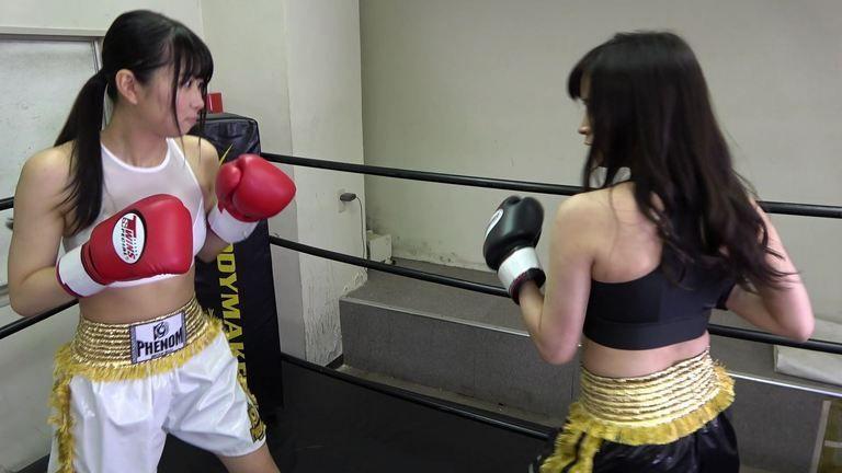 悶絶ボクシング001 真木今日子vs浅倉真凛  Agony Boxing 001 Kyoko Maki vs Marin Asakura